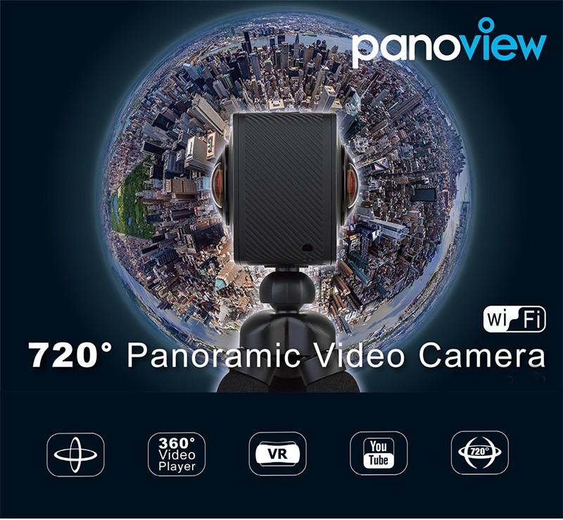 dual lens elephone camera panoview 360 Sport Action Camera VR 360 Degree camera 4K Inta 360 Nano Compatible Youtube Facebook