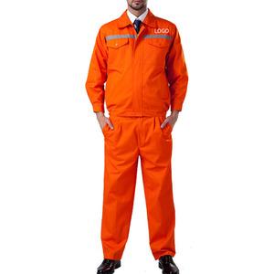 wholesale custom logo reflective stripe long sleeved construction work uniform clothes
