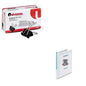 KITAVE19551UNV10200 - Value Kit - Avery Economy Showcase View Binder with Round Rings (AVE19551) and Universal Small Binder Clips (UNV10200)