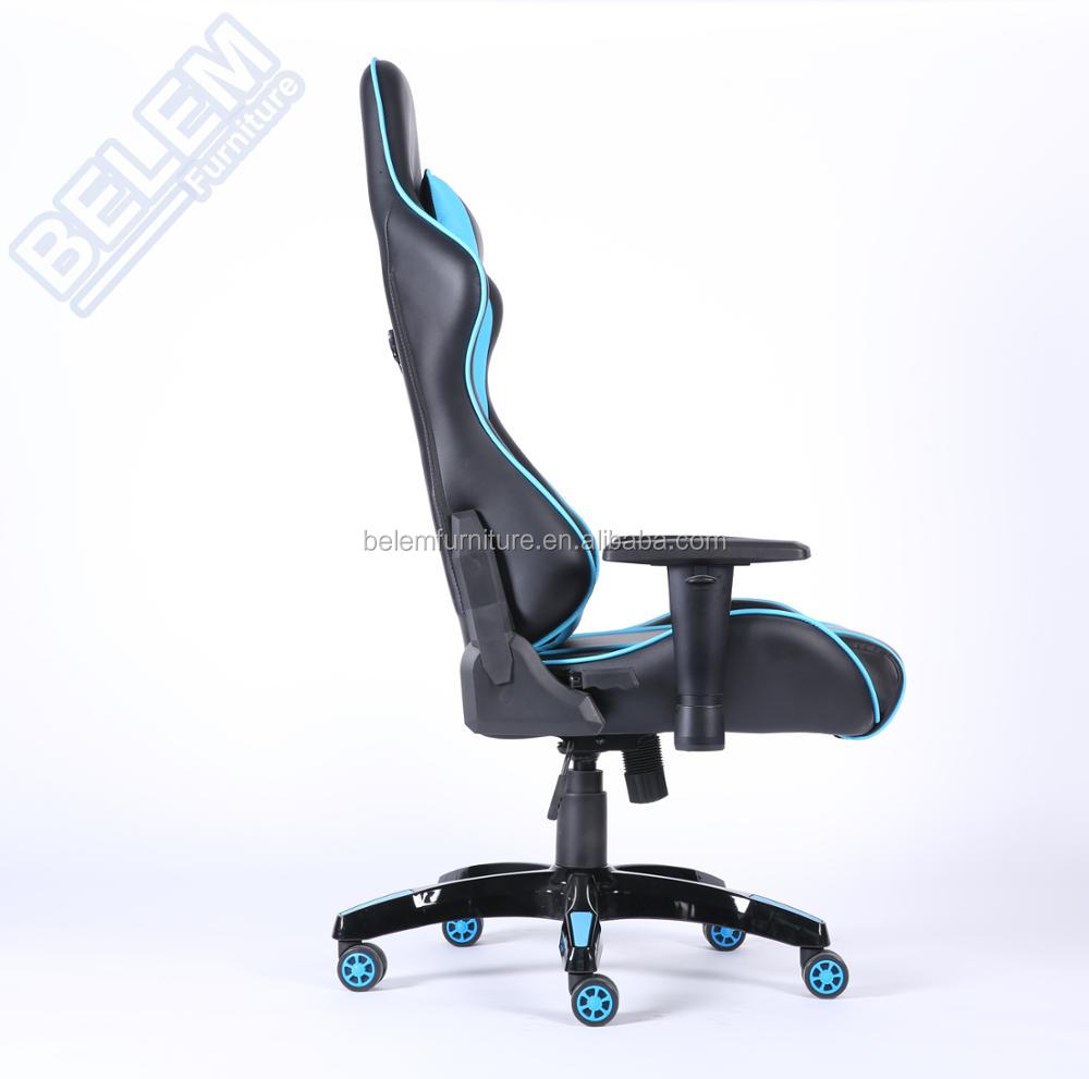 High Quality High-back Executive Desk Swivel Computer Video Gaming Chair with High Gloss Base Armrest BL7510C-Lille