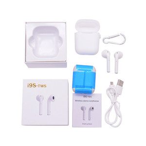 I9S TWS Wireless Earphone Portable V4.2Bluetooth Headset Invisible Earbud for IPhone X 8 7 Plus For Xiaomi Mobile Android Phones