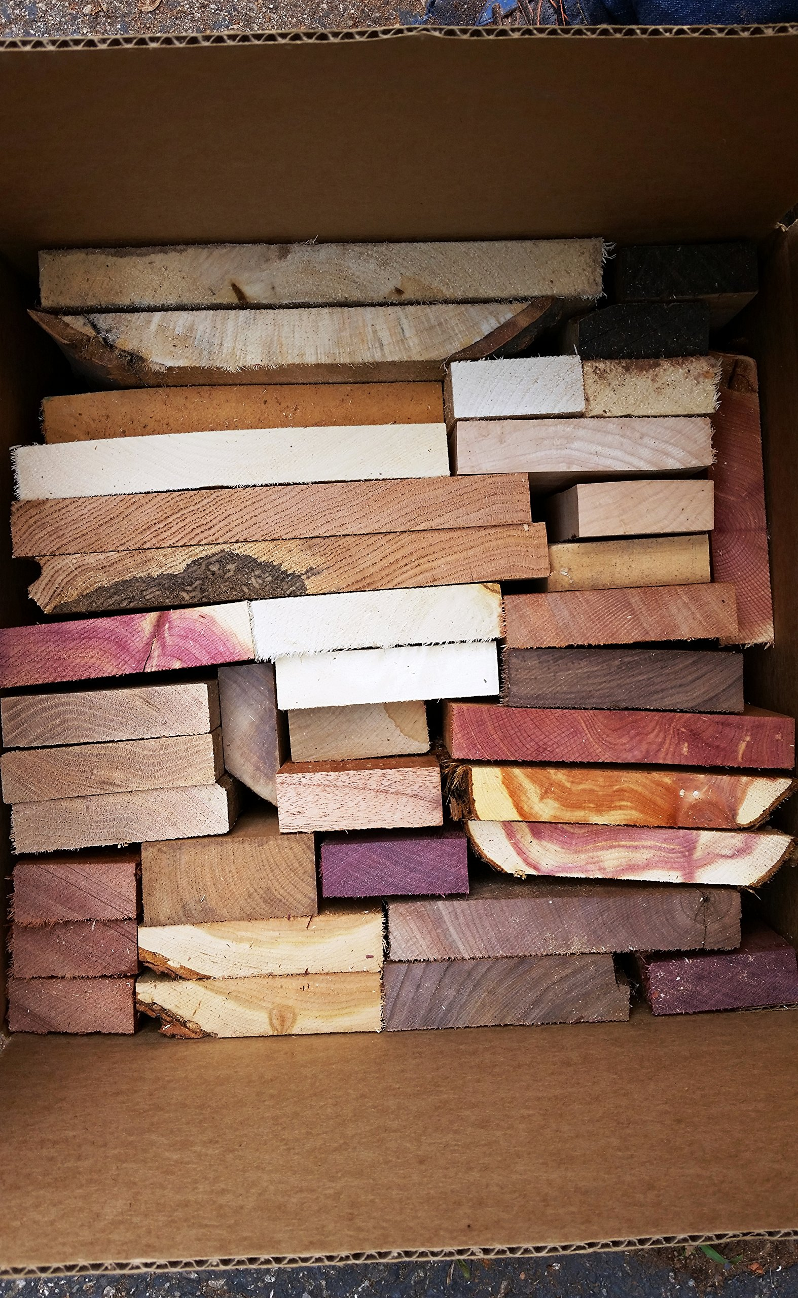 Large box full of board cut-offs. Scrap boards, and lumber ends. Scrap Lumber Perfect for Odds and Ends