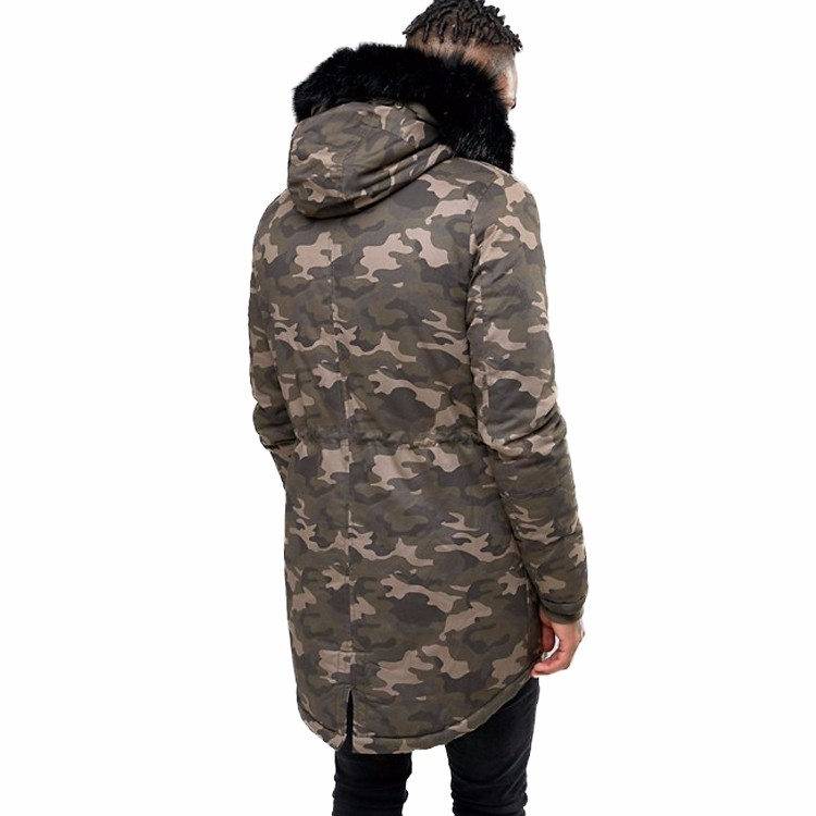 76493584c2b3 Hot Sale Mens Winter Camouflage Jacket Military Coat With Faux Fur ...