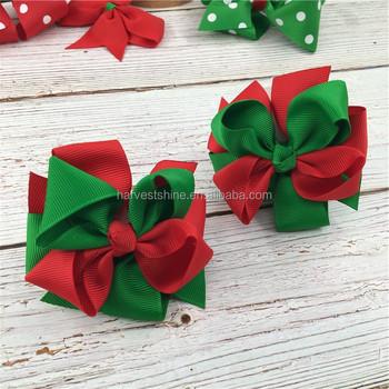 Christmas Hair Clips.Grosgrain Hair Bow With Clips For Kids Christmas Hair Clips With Metal Alligator Buy Christmas Hair Bow Hair Clips For Christmas Christmas Hair Clip