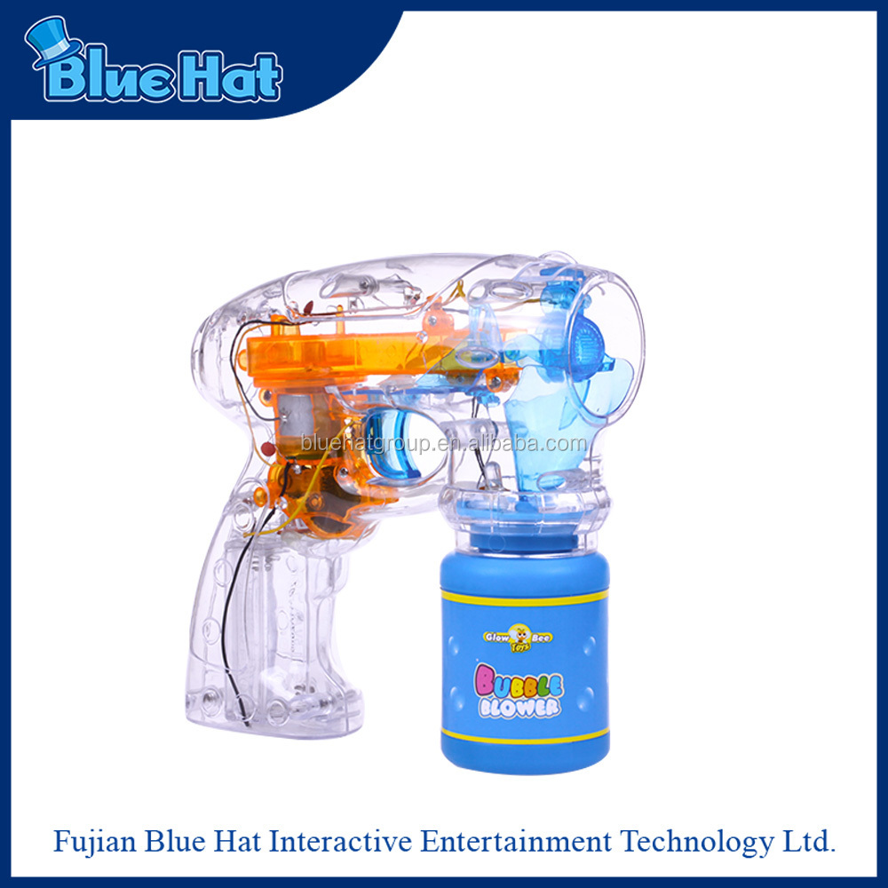 wholesale funny bubble blower gun with LED lights