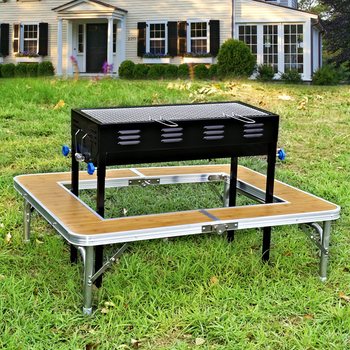 New Product Aluminum Folding Bbq Table Korean Grill