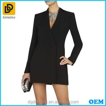 ca0a0a30c98d2 Şık Bayanlar Ofis Giyim Kruvaze Ceket Elbise - Buy Ceket Elbise,Ofis ...