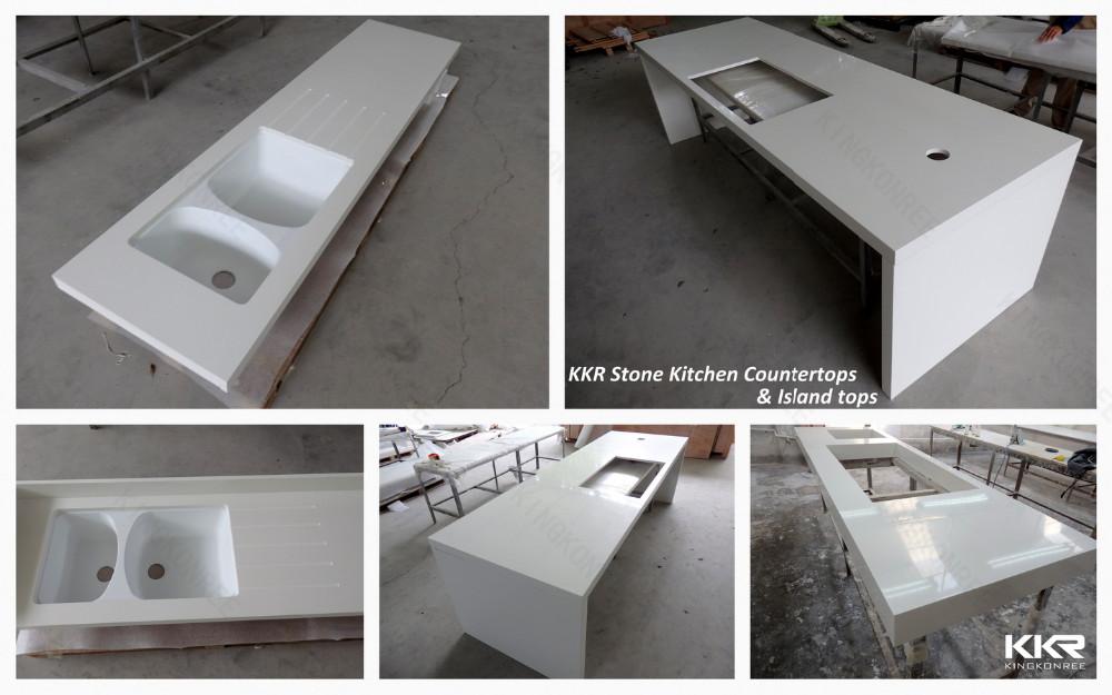 Gletsjer wit kunststeen werkbladen composiet werkblad buy product on - Witte quartz werkblad ...