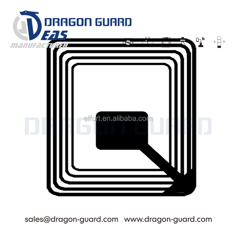 Dragon Guard square costmetic use 8.2mhz supermarket alarm eas rf label