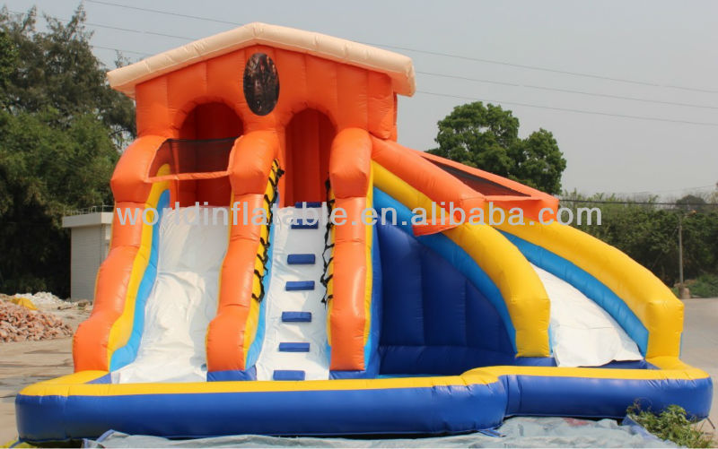 product detail inflatable water slide with pool for adult wl b