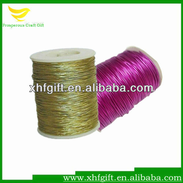 Various color metallic elastic cord for package and decoration