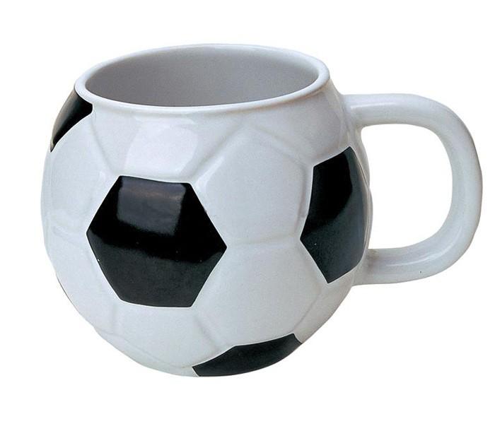 Customized 12oz Football Shaped Mug Ceramic Coffee Mug