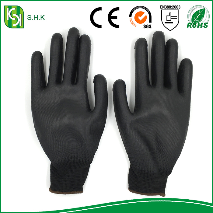 seamless Nitrile/Latex Coated nylon Gloves cut resistant and oil proof gloves