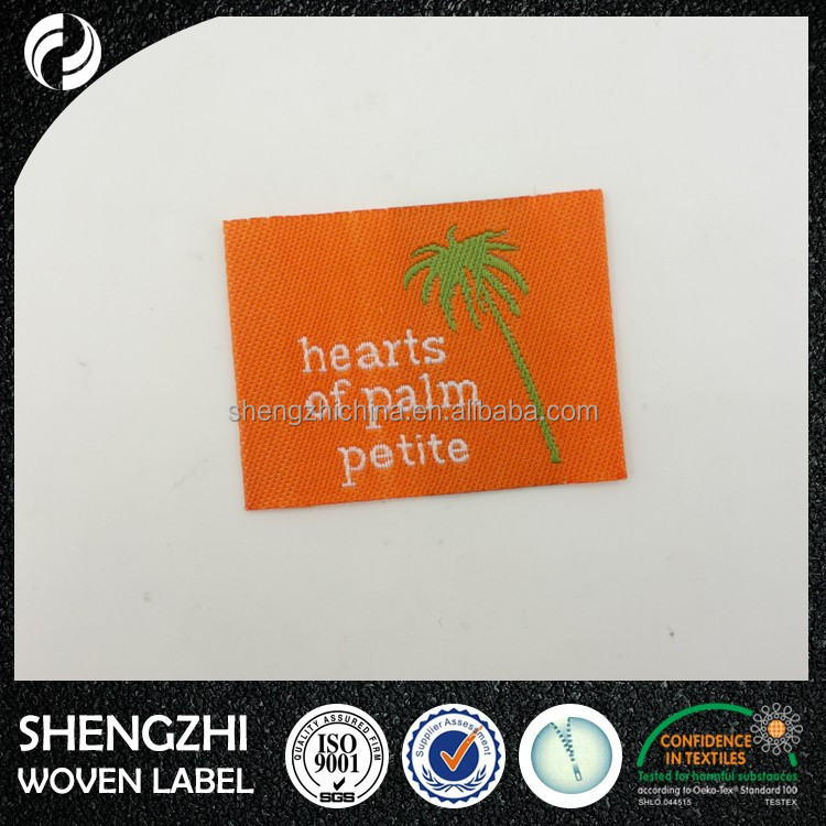Wholesale Garment Woven label /tag/customized clothing embroidery Logo/satin /silk Printing