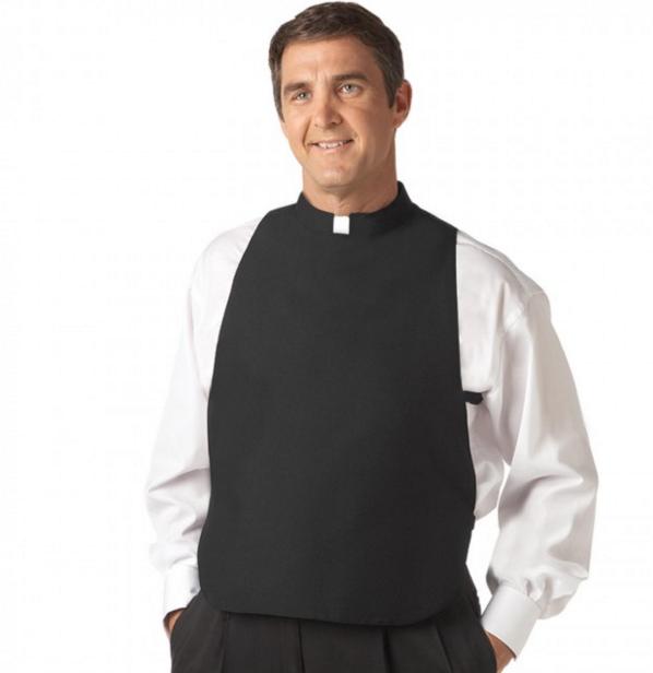 Pastor Minister Short Sleeve Tab Collar Men/'s Dark Gray Clergy Shirt Priest