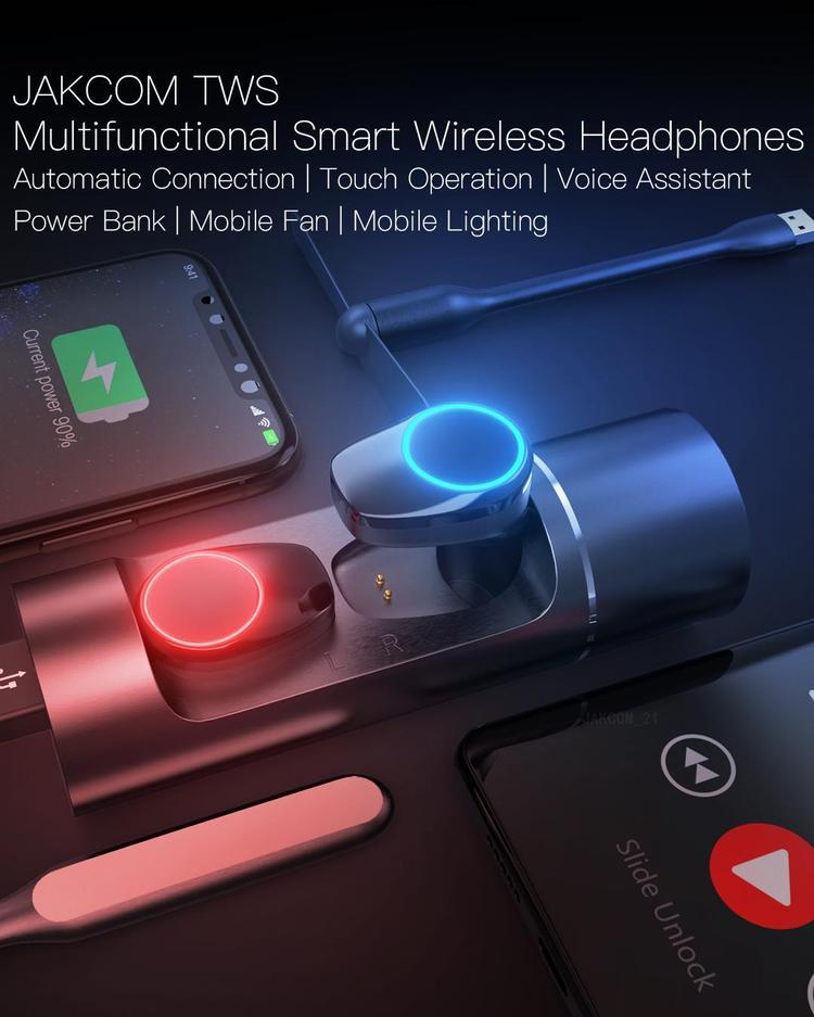 JAKCOM TWS Multifunctional Wireless Headphones New Product of Earphones & Headphones 2020 as i12 earbuds ipx8 handsfree earphone