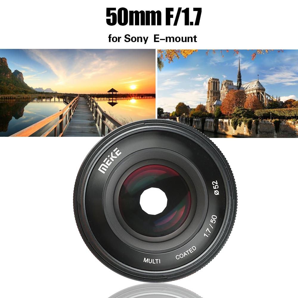 Multicapa Meike Objetivo 50/mm F1.7/para Sony E-Mount