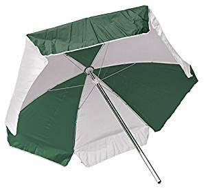 LIFEGUARD UMBRELLA - ULTRA WEATHER DURABLE - GREEN AND WHITE