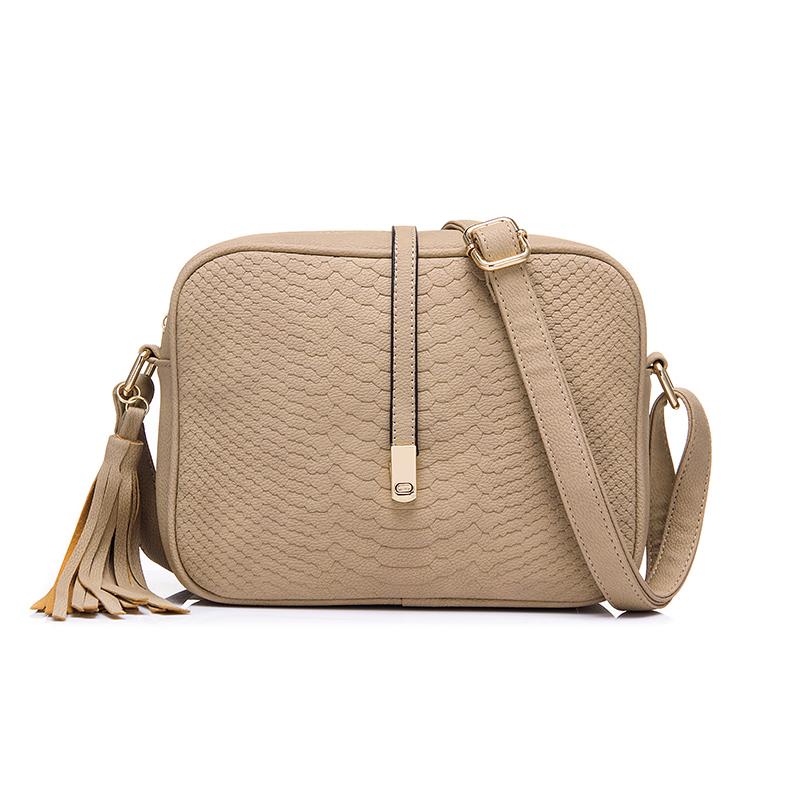 Сумка женская через плечо на молнии REALER, ретро маленькая сумка-мессенджер с кисточкой, маленькая сумка на плечо для женщин, дамские сумки из ...(Китай)