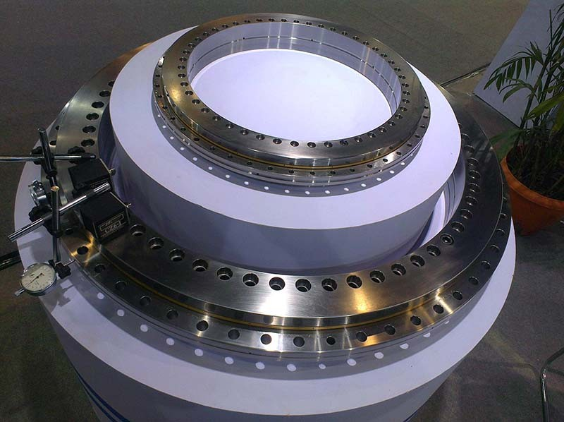China supplier Non-gear and External gear and Internal gear Lazy susan Three-row Roller Slewing bearing