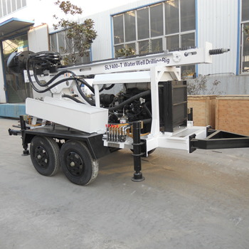 high quality small portable trailer-mounted bore hole water well drilling rig SLY400-T