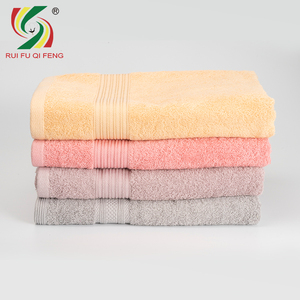 Factory custom logo soft towels bath 100% cotton