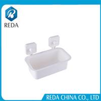 New bath design products Plastic Suction Cup Storage Basket /Hanging Basket