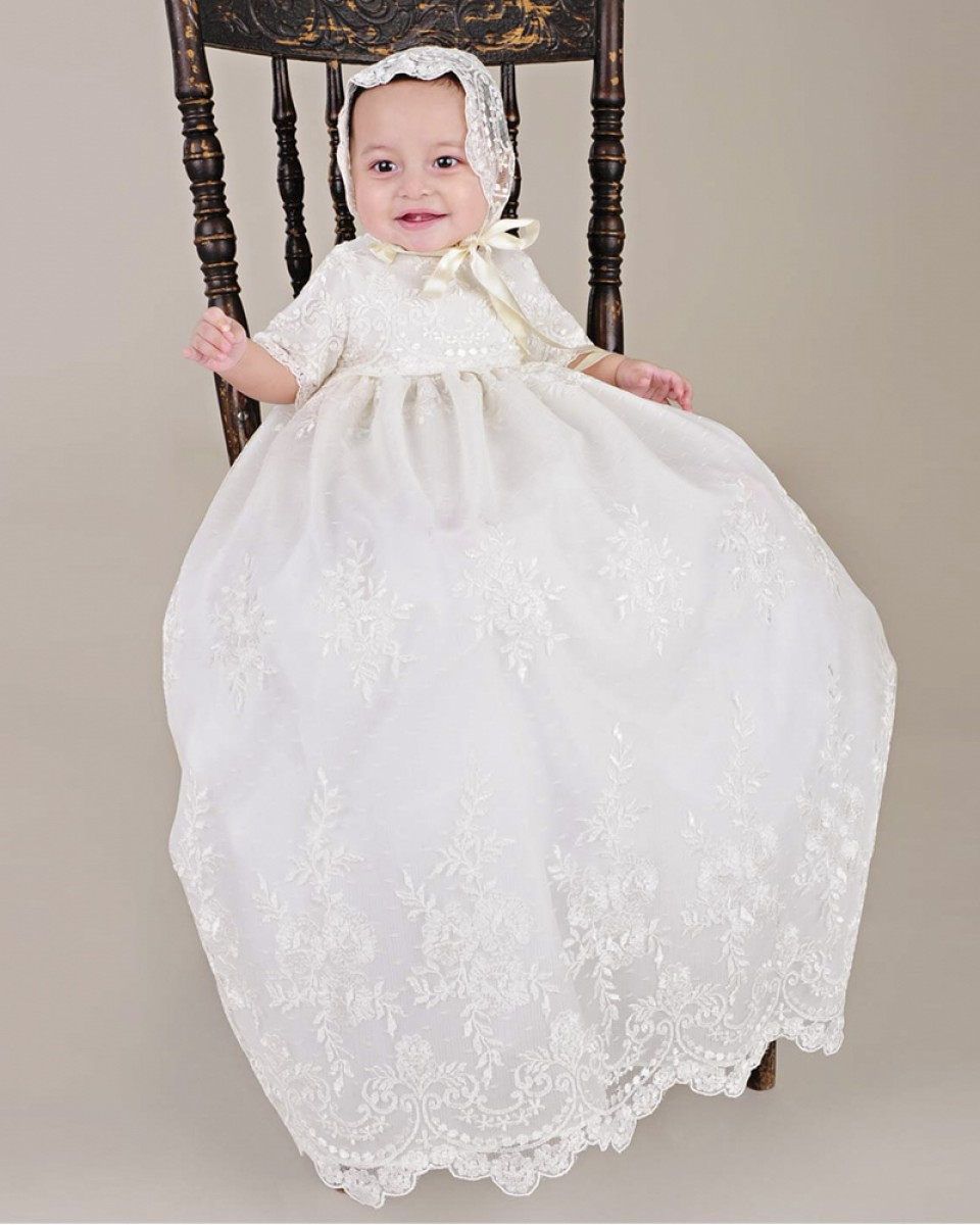 Christening Gowns From Wedding Dresses: Heirloom Christening Baptism Dress Baby Girls Long
