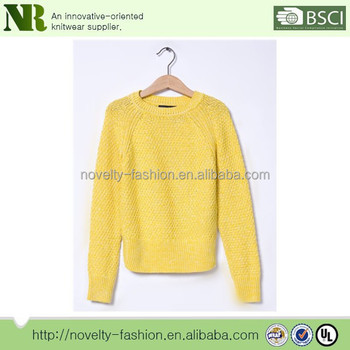 71369abef Simple Pure Color Crew Neck Sweater For Girls Woolen Sweater Designs ...