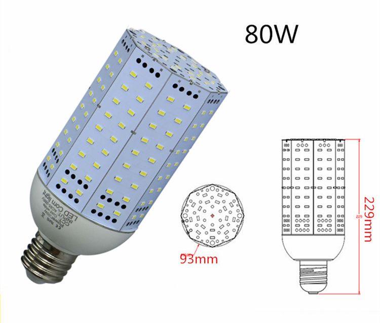 80w led corn light