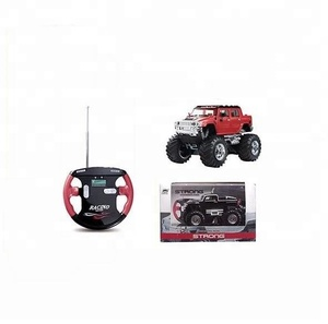 Battery operated rc remote control mini truck toy with big wheel