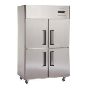 Stainless Steel Commercial Kitchen 4 doors Upright Refrigerator Freezer with