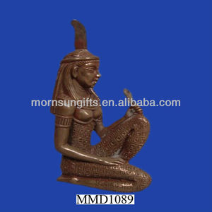 Maat Egyptian Goddess Bronze Figurine