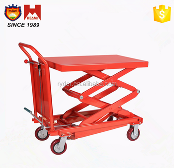 Hydraulic Motorcycle Lift Table Manual Scissor