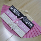 Hot selling bamboo silk hand folding fan Chinese wedding door gift