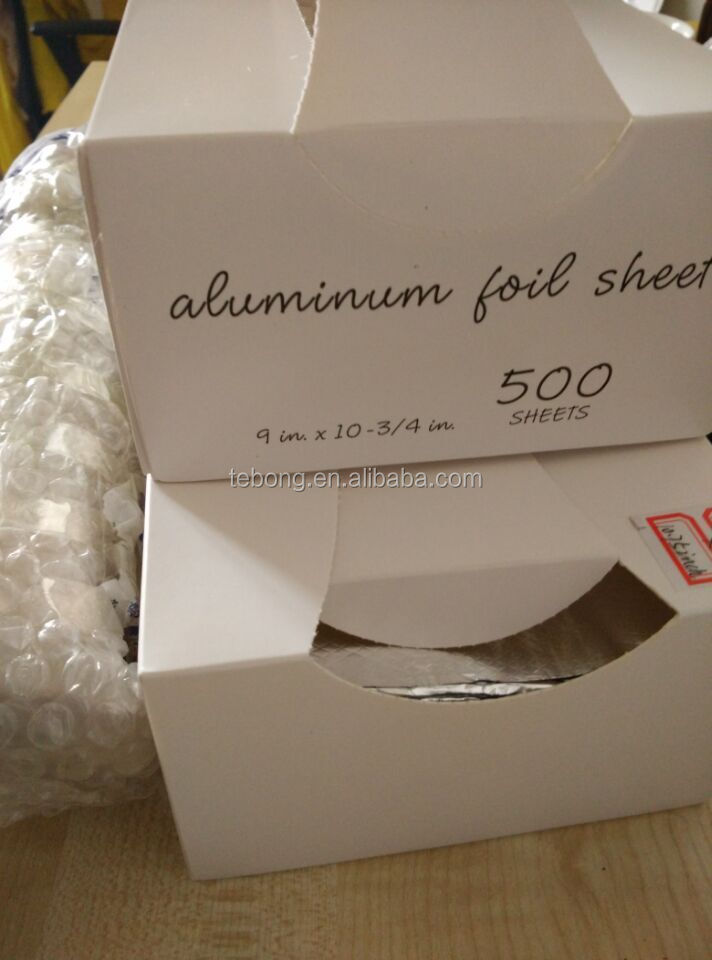 "9"" X 10.75"" Aluminum Foil Interfolded Pop-up Sheets Food Wrap Usa ..."