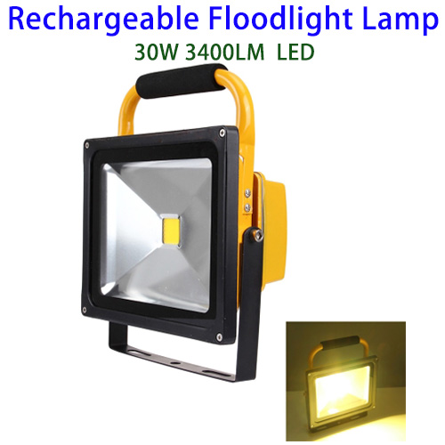 Christmas Decor 30W 3400LM Waterproof Rechargeable LED Flood Light 30W