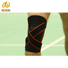 Badminton knee type brace / nylon knitted compression knee / knee support bracket silicone pad