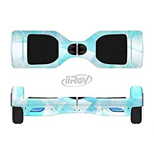 The Vector Abstract Shaped Blue Overlay Full-Body Wrap Skin Kit for the iiRov HoverBoards and other Scooter (HOVERBOARD NOT INCLUDED)