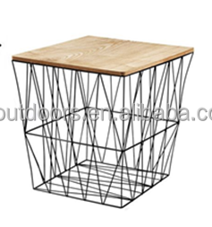 Living Room Furniture Cabinet Wire Frame Base Coffee Table Square Cover