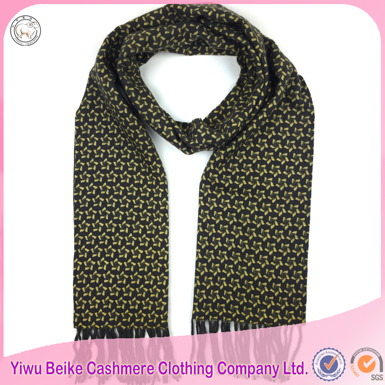 High quality popular printed 100% cashmere pashmina shawl