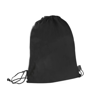 Good Quality Recycle Black Drawstring Backpack Bag For Gym Sports Exercice