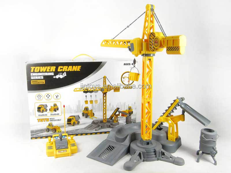 2017 radio control tower crane toy R/C 6CH construction crane toys rc construction toys