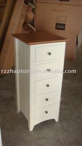 Solid Wood 5 Drawer Chest Living room furniture