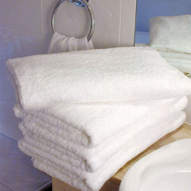 Wholesale White Color Thin Cotton Hotel 21s Bath Towels For Sale