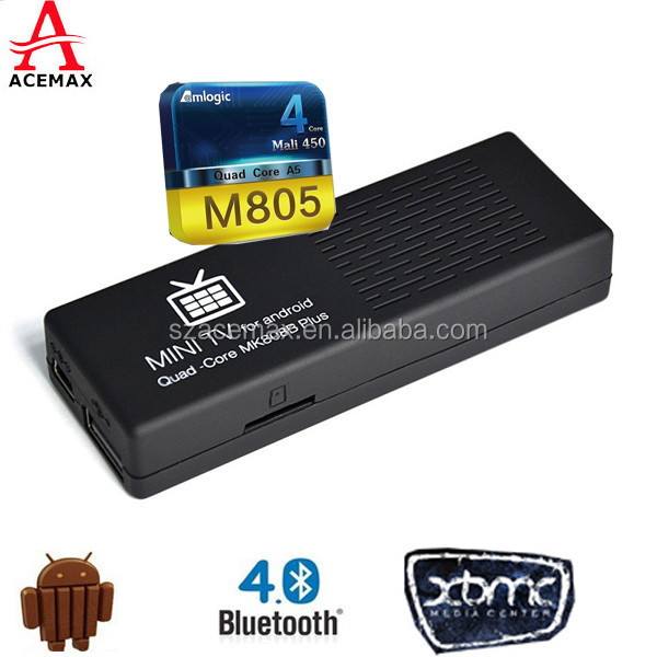 Quad Core Amloigc M805 full hd 1080p video free real player <strong>tv</strong> <strong>dongle</strong> MK808B Plus
