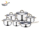 Cookware Sets Stainless Steel Kitchenware Pot Set Home Kitchen Appliance Mirror Polishing Pan Set Stainless Steel 12pcs Kitchenware Cooking Pot Cookware Set