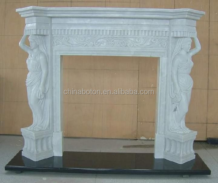 BEST alibaba exporter natural well polished marble made hand carved high quality chicken blood stone fireplace