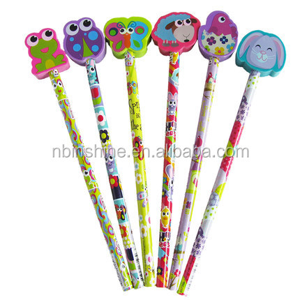 Assorted Adorable Collection Pencil Top Erasers