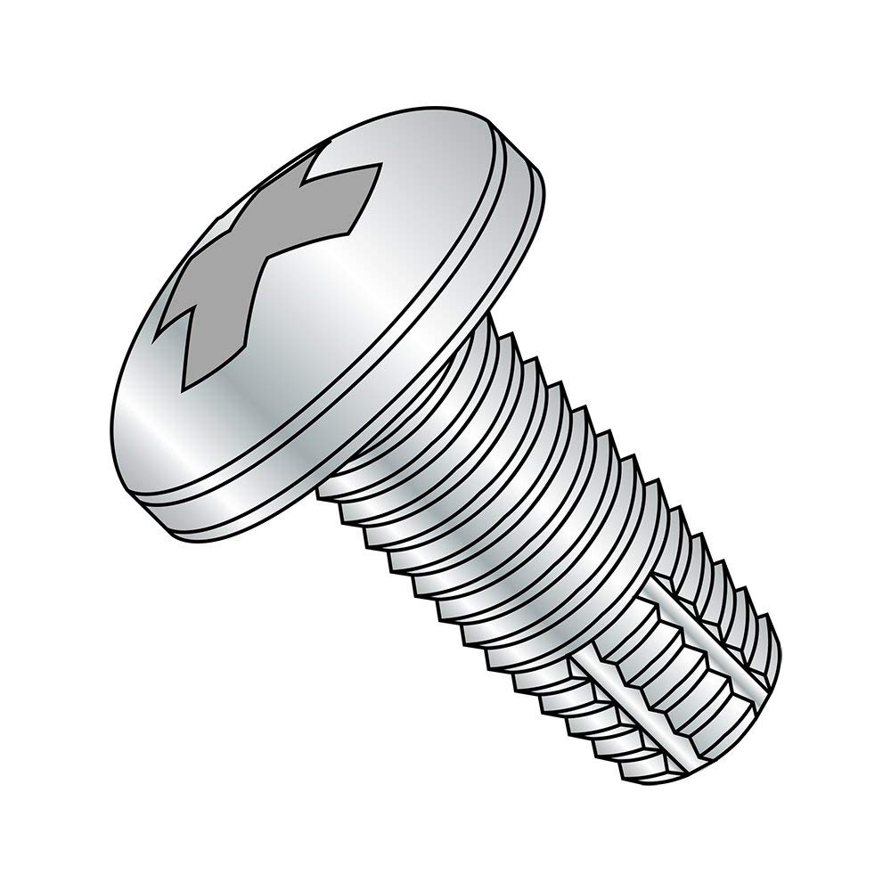 Type 25 Plain Finish 18-8 Stainless Steel Thread Cutting Screw Phillips Drive 1//2 Length 82 Degree Flat Head #6-20 Thread Size Pack of 100
